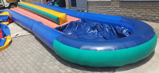 10 Metre Inflatable Double Slide with Pond for Hire in Gordons Bay, Somerset West, and Strand.