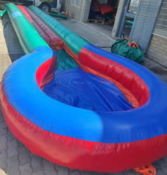 10 Metre Single Infltable Slide with Pond for Hire in Gordons Bay, Strand, and Somerset West.