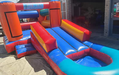 Combo Jumping Castle Inflatable Slide with Pond for Hire in Gordons Bay, Strand, and Somerset West.